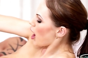 Bisexual stud drills pussy and sucks cock