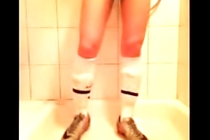 boy A Sports Student Play his Penis with his NIKE SHOES AND SOCKS